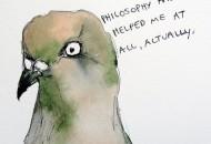 Philosophy Pigeon Magnet by Gabriela Vainsencher